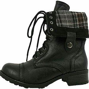 SODA Oralee-S black combat boot